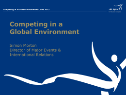 Competing in a Global Environment