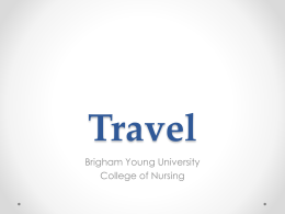 Travel Guide - College of Nursing