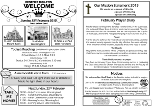 Benefice Bulletin 15 February 2015