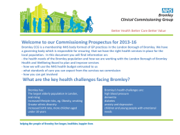 Integrated Commissioning Plan 2013-16