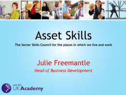 asset skills uk academy - British Parking Association