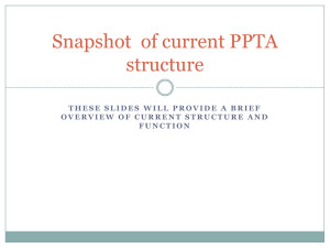 Snapshot of current PPTA structure