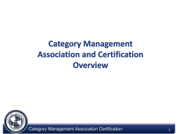 CPG Cat Certification Subcommittee