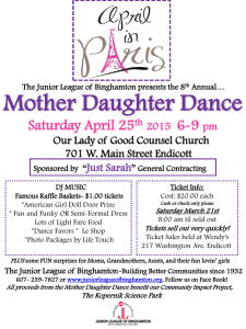 Saturday April 25 th 2015 6-9 pm Our Lady of Good Counsel Church