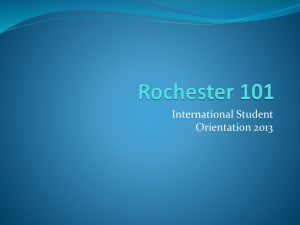 Rochester 101 - Rochester Institute of Technology