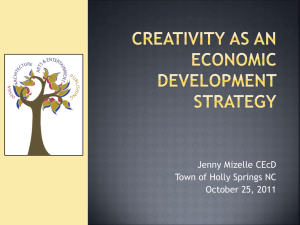 1045 - Creativity as an Economic Development Strategy