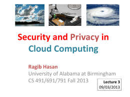 Attacking a cloud - Computer and Information Sciences