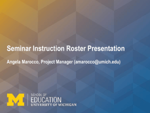 Accessing Seminar Instruction Rosters