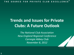 13 Impact on Clubs - National Club Association