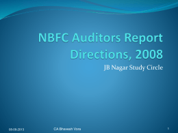NBFC Auditors Report Directions, 2008