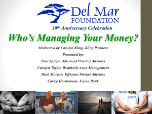 Who`s Managing Your Money?