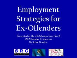 Employment Strategies for Ex-Offenders
