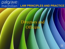 Law principles and practice Directors