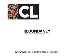 REDUNDANCY - Community Law