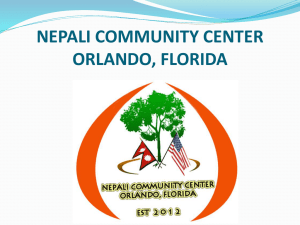 nepali community center orlando, florida
