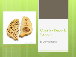 Country Report: Taiwan
