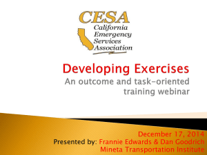Developing Exercises: Outcome and Task