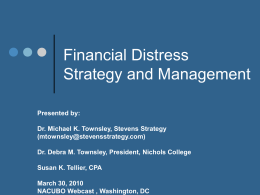 Financial Distress Strategy and Management
