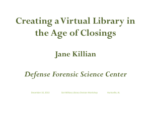 Jane Killian - Military Libraries Division (DMIL)