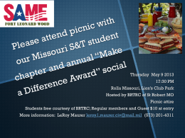 Student Chapter Picnic and STEM Awards - SAME