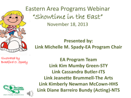 """Showtime in the East Webinar"" November 18, 2013"