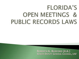 Public Records Law - Office of the General Counsel