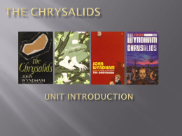 The chrysalids - WilsonTeacher.ca