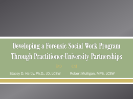 Hardy - National Organization of Forensic Social Work