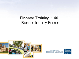 Banner Inquiry Form