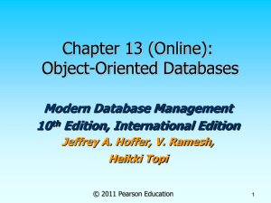 Chapter 13 (Online): Object-Oriented Databases