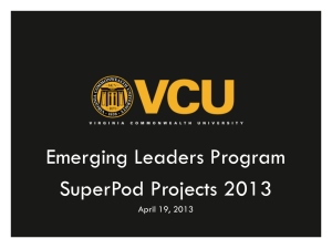 2012-13 SuperPod Projects