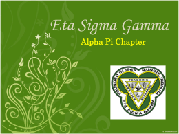 Faculty Sponsors - Eta Sigma Gamma