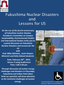 Fukushima Nuclear Disasters and Lessons for US