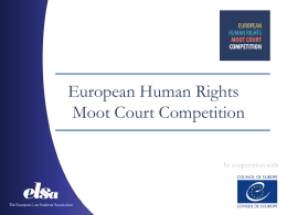 Human Rights Moot Court Competition