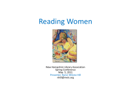 Reading Women - New Hampshire Library Association