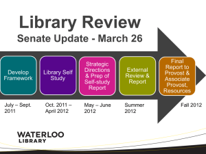 Library Review Update (PowerPoint)
