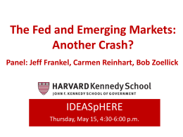 The Fed and Emerging Markets: Another Crash?
