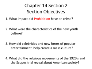 Chapter 14 Section 2 Life in the Twenties
