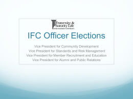 IFC Officer Elections Powerpoint