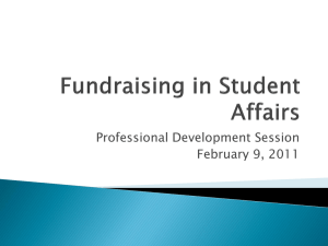 Fundraising in Student Affairs