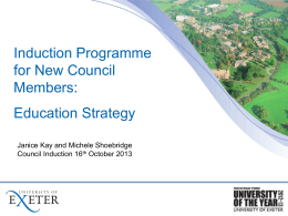 Education Strategy - University of Exeter