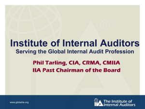 News from The IIA