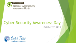 Cyber Security Awareness Day 2013 Web