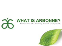 WHAT IS ARBONNE? - Beth Malcook Nation