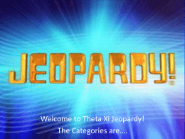 Theta Xi Jeopardy - Membership Education Game