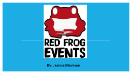 Applying to Red Frog Events