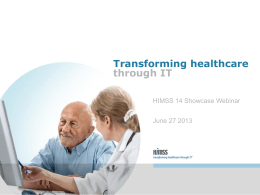 Showcase PowerPoint - HIMSS Interoperability Showcases