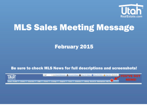 February MLS Sales Meeting Message ()