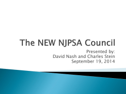 The NEW NJPSA Council