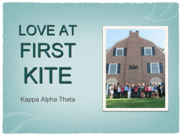LOVE AT FIRST KITE - University of Nebraska–Lincoln